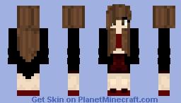 Dark Girl Minecraft Skin