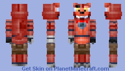 Funtime Classic Foxy (edit of _Forerunner_'s Funtime Foxy) Minecraft Skin