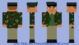 -=Personal Skin - Remastered=- A British Royal Marine Radio Operator outfitted in DPM Smock and Half Lovats. Minecraft