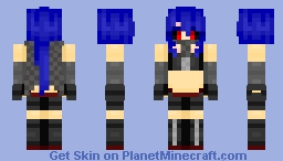 Rave the Ghoul Assasin (Genderbend) | Tnx for 60 subs! Minecraft Skin