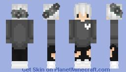 The night is dark. Minecraft Skin