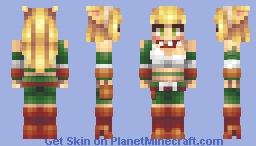 Cat Girl Hunter Minecraft Skin