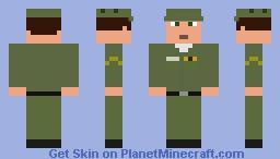 U.S. Soldier from Steve, Herobrine, and Minecraft Origin Story in 1957 Minecraft Skin