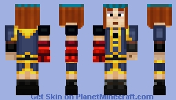 Petra with Gauntlet (Minecraft Story Mode Season 2) Minecraft Skin