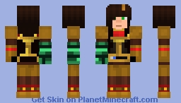 Jesse F With Armor And Gauntlet Minecraft Skin
