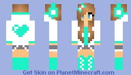 Pixel Heart Girl Minecraft Skin