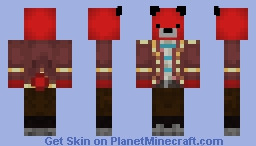 Xephos as a red bare Minecraft Skin