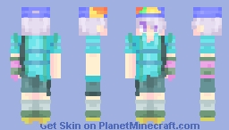"""Look at me! I'm white and nerdy!"" NaJ Fresh!Sans (My first but not-so-first skin) Minecraft"
