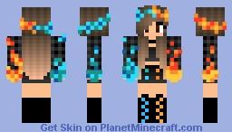 Fire & Ice Girl V2 Minecraft Skin
