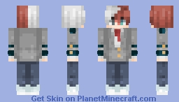 Shouto Todoroki // Minecraft Skin