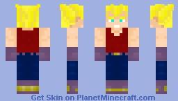 Vegeta GT Super Saiyan Minecraft Skin