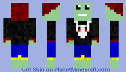 Happy Green Guy Minecraft Skin