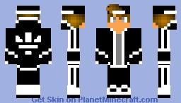 gesso Laboratorio Incerto  Black and white Adidas Boy Minecraft Skin