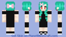 Black Prom Dress Minecraft Skin
