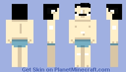 cool man wit sunscreen an bathe suit Minecraft Skin