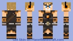 PvP Orange Warrior Minecraft Skin