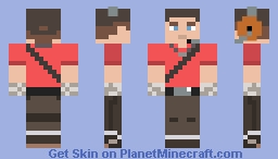 Red Scout (Team Fortress 2) Minecraft Skin