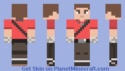 Red Scout (Team Fortress) (No Hat) Minecraft Skin