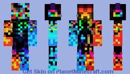 Fire & Ice Creeper Minecraft Skin