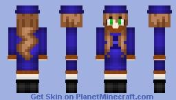 Blue Dress Adventurer Minecraft Skin