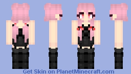 Gasai Yuno [Mirai Nikki / The Future Diary] [black dress] Minecraft Skin
