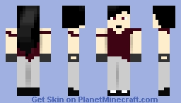 Deep red Minecraft Skin