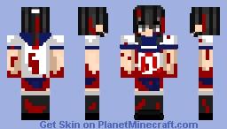 Yandere Simulator Ayano Aishi/Yandere Chan bloody Minecraft Skin