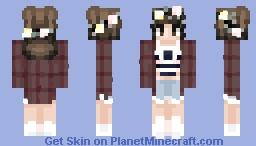 Flannel Gal Minecraft Skin