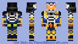 Kamen Rider Gaim Jimber Lemon Arms  仮面ライダー鎧武•ジンバーレモンアームズ Minecraft Skin