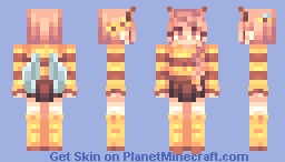 honey bee 🐝 | updated shading! Minecraft Skin