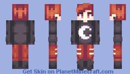 when the day met the night Minecraft Skin