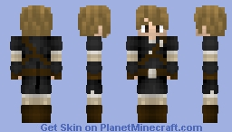 Link with black clothes and no hat Minecraft Skin
