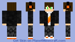 Flame Shirt*Jacket*Headphones//Boy Skin Minecraft Skin