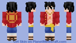 Luffy (Hat on Back) Minecraft Skin