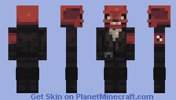 Red Skull Minecraft Skin