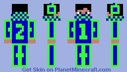 Code Name: OneTwo Minecraft Skin