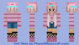 Cute Girl In Hat Minecraft Skin