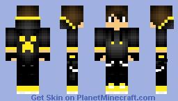 Yellow Creeper Boy Minecraft Skin