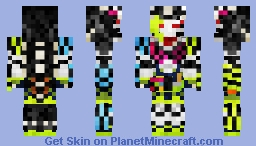 "Kamen Rider Snipe Hunter Shooting Gamer Level 5 Full Dragon ""Drago Knight Hunter Z"" 仮面ライダースナイプ•ハンターバイクゲーマーレベル5 Minecraft Skin"