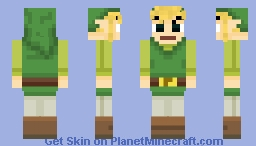 Toon Link SSB4 (Alex Model) Minecraft Skin