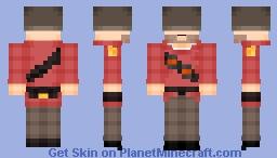 TF2 Soldier Minecraft Skin