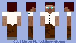 White Shirt Steve Minecraft Skin