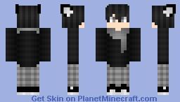 Wolf Boy Black ThunderX Minecraft Skin