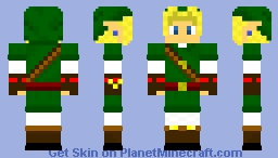 Adult Link Ocarina of Time Minecraft Skin