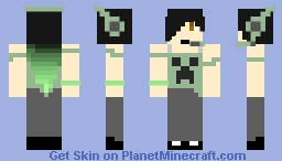 Female creeper gamer Minecraft Skin