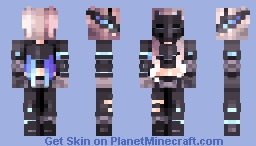 Black Widow Minecraft Skin