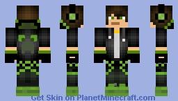 Green gamer Minecraft Skin