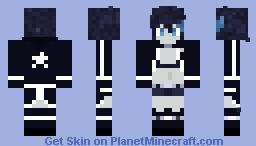 Black ★ Rock Shooter -{ Black Rock Shooter }- Minecraft Skin