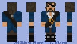 Remus Windschrei, Captain of the Gull Death (NPC) www.medievalcraft.de Minecraft Skin