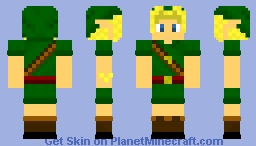 Young Link Ocarina of Time Minecraft Skin